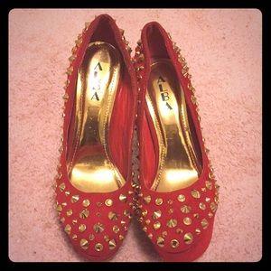 Alba studded stiletto heels